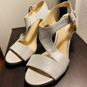 Kelly & Katie silver heels